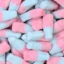 image of fizzy bubblegum flavoured bottles - www.chocolatierfountains.co.uk